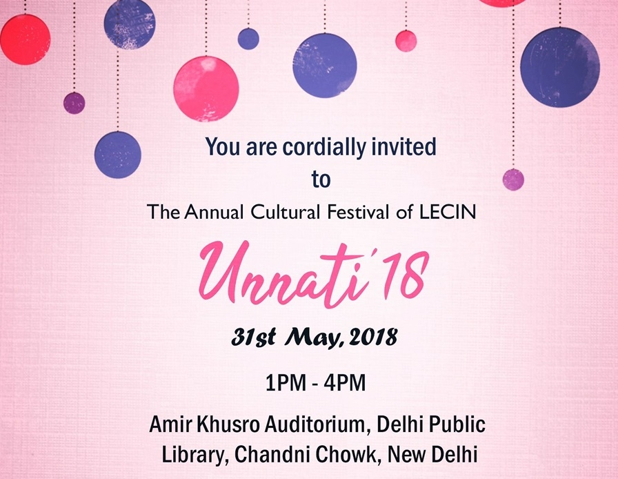 Unnati'18 - Annual Cultural Festival Of LECIN